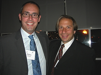 Project PAVE's Myles Mendoza, left, Gareth Heyman, Chair of the Event