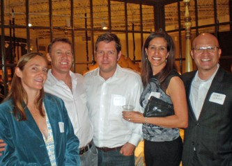 Honorary chairperson Mary Caulkins (left), Jamie Harris, Karl Kister, Leanna Harris and honoree Adam Lerner