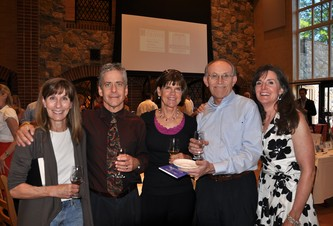 Ann Schleve, Carl Demidovich, Libby Shurnas, Jim Schleve and Dr. Meg Lemon at the Raymond Wentz Wine Tasting