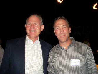 COO of Comcast Media Center, Gary Traver with DCH Executive Director, Jerry Yager