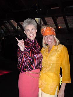 Children's Hospital Gala 2001 dinner chairman Diane Sweat, left, and Martha Kelce have a clear case of  Saturday Night Fever.