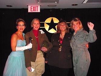 Cancer League Fly Girls Carol Hansen, left, Rosalie Margolis, Linda Kozar and Carrie Fell