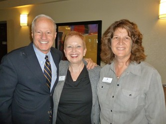 U.S. Rep. Mike Coffman, with Debbie Stafford (middle) and board treasurer Terry Campbell-Carn