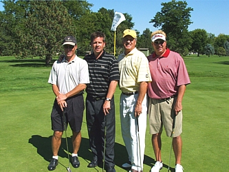 The winning team! The Pocs Foursome; Bill Elsner, Martin Pocs, Tyg Krekel and Eric Akerson.