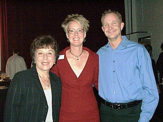 Board Member Rosalie Goldman with Executive Director,  Erin Pulling and event donor Matt Lanbauer