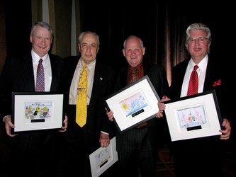 AF's award winners: Murphy Huston, Mort Marks, Dick Saunders and Jay Davidson