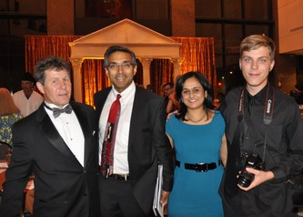 Co-chair Dean Mills, Dr. Rajeev Kumar & Anu Kumar and Zack Mills