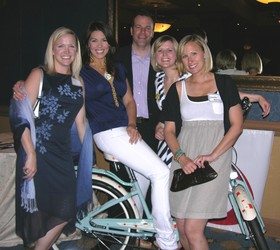 Kristin Miller, left, Natalie Vickers, Shawn Miller, Laura Meixell, and Samantha Holloway