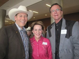L to R: Ray Sorensen, Jane Pope Meehan, Jim Barclay, CEO