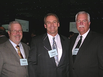 Board Members Tom Schilling, Charlie Knight and Ron Bar
