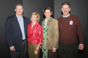 John Strohm, left, Mary Pat Link, (chairman of the board), Kathryn Ryan and board member Tim Ryan