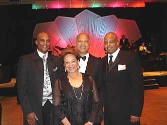 Bryan Moses, left, with Joyce Moses, Haven Moses and Chris Moses. Haven was the honoree of the gala and Joyce was one of the dance competitors