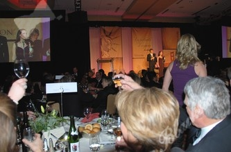 A toast to the honorees of the evening.