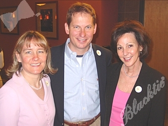 Steve Winesett, President and CEO of The Children's Hospital Foundation, with Edie Bell, left, and Peggy Warner, VP at  The Children's Hospital Foundation