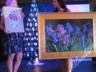 First paired auction items, left, by Beatrice Burnkrant, right, Martin Lambuth
