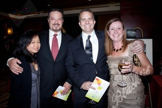 Phuong Luong (left) with Dave Kadel, Brian and Sarah Chase