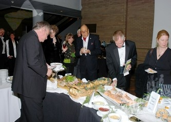 Guests enjoy some of the delicious food offerings
