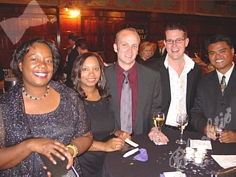 Ouetta Sampson, left, Denise Wisdom-Thomas, Matt Morgan, Ben Lusz and Fred Padeway were representing the Gay and Lesbian Fund for Colorado table, one of the Gold Sponsors for the ball
