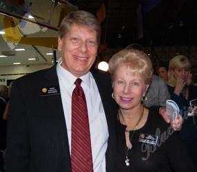 Senator Mark Scheffel and his sister, Debora Scheffel, on the State Board of Education