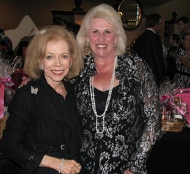 The Villager Society Editor Glory Weisberg, left, take a moment to smile with friend Edie Marks