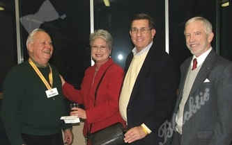 Rotary volonteers: Jim Wilkins, Mary Underwood, Larry Gloss and Pete Wall