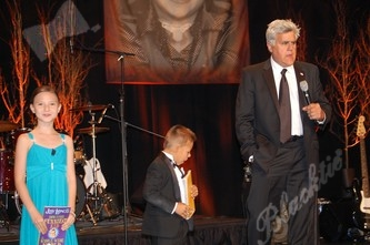 TCH Ambassadors Ayla Charness and Christian Moreno and Jay Leno