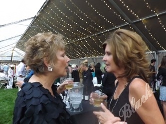 Susan Stiff and Kay Burke chat it up.