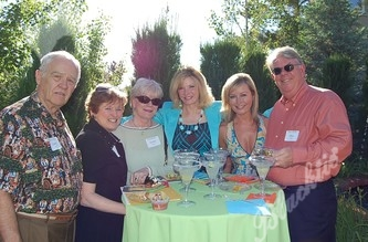 Gary and Gayle Ray, left, with Jackie Forker, Vickie Dow, Mary Shay and Alan Forker