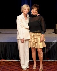 Sue Ellen Goss (LLS board president), left, and Jody Epstein (chairman of the gala)