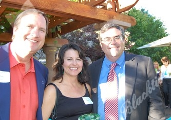 Jon and Teri Kruljac, left, and Kempe Center's Executive Director, Dr. Rob Clyman