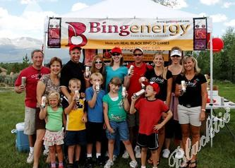BingEnergy was a sponsor for this year's event.  Here is the BingEnergy group in front of their tent in Leadville.  Owners of BingEnergy are Susan and Lamont Seckman.