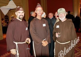 Blacktie | Photos | Bro  Joseph Elder , OFM Cap  (left) and