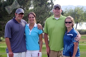 Paul McGill, left, with Tara McGill, Jeremy Cardwell and April Cardwell