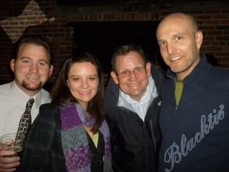 (l to r): Chris, Sarah and Greg McManus, with David Barnett