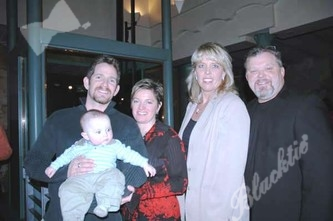 Chad and Stephanie Hall with son Anson and Mark and Trisha Littlejohn