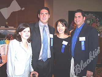 Shalom Park's Melanie Eisen, left, with Craig Eisen, and volunteers Grace Cheng and Barry Ogin