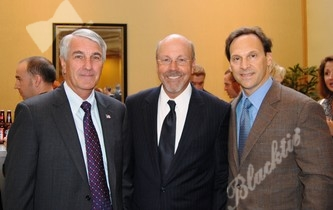 From the Colorado Springs Chamber of Commerce: Brian Binn, director of military affairs, left, Dave Csintyan, CEO, with Dave Siegel, president and CEO of Frontier Airlines