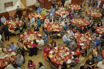 About 300 guests enjoyed grilled chicken breast wtih caramelized onions and crema de poblano from Paxia authentic Mexican Cuisine
