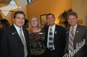 Senator Brandon Shaffer, left, with Susan Romani, former state representative Joe Rice and Nate Gorman of the UVC