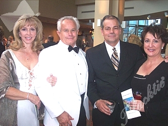 Kathie and Richard Gash (left) with Steve Lunnon and Tina Gorman