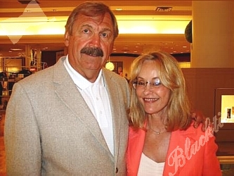 Mr. and Mrs. Dale Hackbart, former Bronco