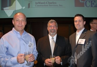 Dick Schell (l), Brian Beaulieu, keynote speaker and Danny Harrison with Trinity Capitol Services