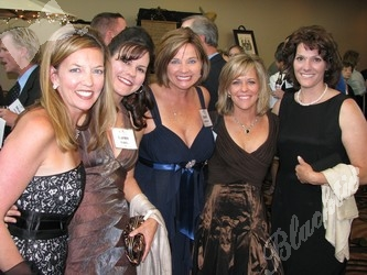 Lisa Massey, left, Karen Riddle, Sherri Hutcheon, Chris Wood, and Carrie Hollbrook