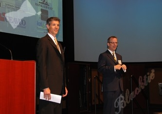 Bob Neuman (l) and Greg Greenwood, founders of CTLF welcome the guests