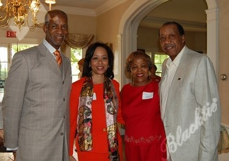 2011 Tribute honorees Moses and Gwen Brewer, left, with Pamela and Gene Jackson