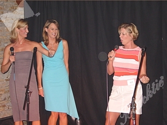 Cheryl Preheim and Kathy Sabine sing back up for April Zesbaugh of KOA Radio 850