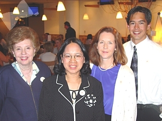 Dr. Sandra Arkin, left, with Honoree Esther Carpenter, Kim Gahring and Paul Carpenter
