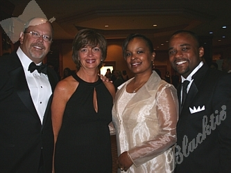 Bruce and Kelly James with Mary and Michael Hancock