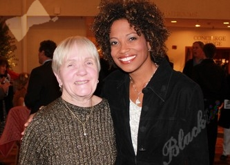 Sylvia Henderson and USTA Colorado board member Angela Finan enjoy the gala