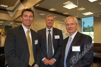 President of FASB and Corporate Co-Chair Nick Lepetsos, left, with Stephen Johnson and Tom Herrington